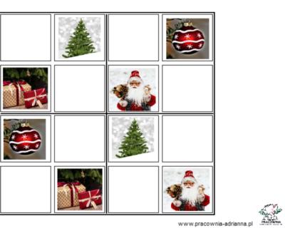 Rozumienie 7 (sudoku  – Boże Narodzenie)