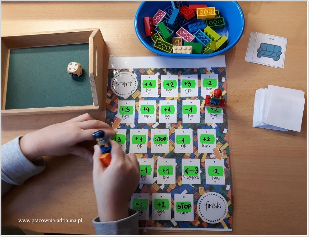 O mojej modyfikacji planszy do grania z udziałem klocków LEGO pisałam tutaj. Od kilku dni wróciły do łaski i na poczekaniu dorobiłam nowy materiał wyrazowo obrazkowy i przy okazji nowe zdjęcia. Przy pomocy tej gry możesz utrwalić wszystko. Zależy co będzie na kartonikach. Osobiście ćwiczę artykulację głosek, ale pracuję też nad: karteczkami z prostymi wyrazami […]